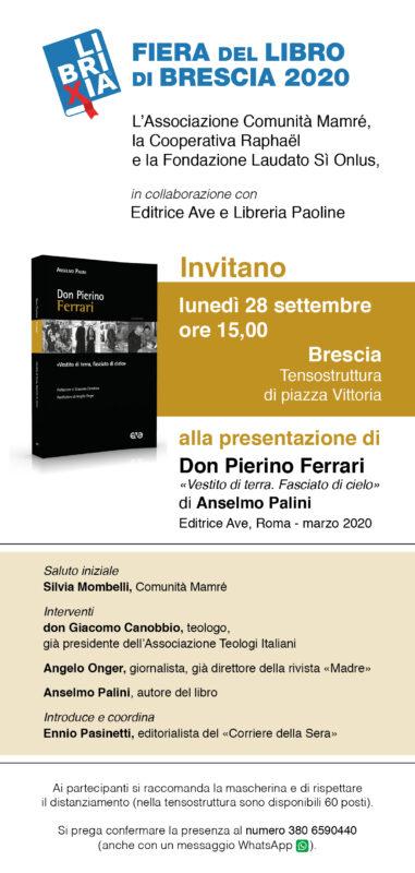 """Presentazione del libro """"Don Pierino Ferrari"""" a Librixia"""