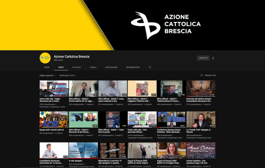 Canale YouTube diocesano