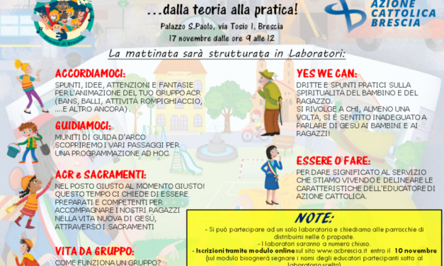 WORK IN PROGRESS… dalla teoria alla pratica