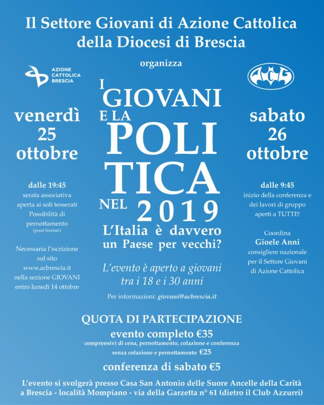 I GIOVANI E LA POLITICA NEL 2019 – L'Italia è davvero un Paese per vecchi?